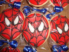 Spiderman Birthday Theme Sugar Cookies individually wrapped!
