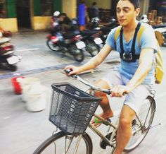there is a stunned look on my face because this was the moment I found out the only brake on the bike given to me in Hanoi by my #travelbuddy DOES NOT WORK! As you can see my left hand is squeezing for all my life and I'm realising I'm going IN to that next intersection whether I like it or not  #hanoi #vietnam #bicycle #deathtrap #shocking #notgonnalivethroughthis #ride by steve.ldn