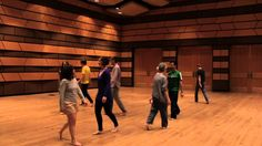 In this Dalcroze Eurhythmics game, students learn to predict and be sensitive to phrase lengths when they are asked to walk when the music plays, and clap during the silence. The game is being taught by Dr. Gregory Ristow, a Dalcroze teacher who is assistant professor of music and director of choral activities at DePauw University.