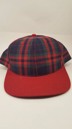 b36752784461 Vintage Plaid San Sun Baseball cap Hat Snapback Adjustable One Size Fits  All Made in Taiwan