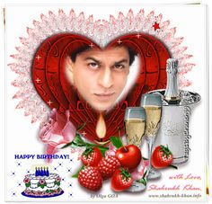 Image result for shahrukh happy birthday card
