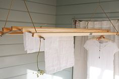 deVOL Kitchens - laundry airer, suspends from the ceiling and you winch it up and down as needed