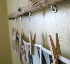 ORDINARY MOMMY DESIGN: DIY Driftwood Photo Hanger Tutorial.