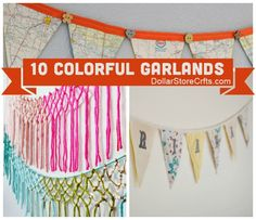 Dollar Store Crafts » Blog Archive » 10 Pretty Garlands to Add Color to Your Life