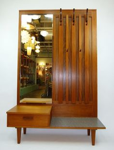 Great coat rack - also a mid-century room divider with finished back!