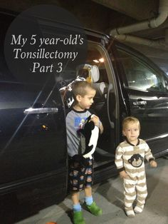 my 5 year-old's Tonsillectomy: part 3