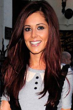 love this dark red hair color for a few highlights hair