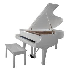 Steinway and Sons Model B grand piano 10 ) USA Beautiful white Steinway Sons grand piano manufactured in 1966 and bearing the MADE IN NY label. Living Room Modern, My Living Room, Studio Desk Music, Vintage Furniture, Cool Furniture, Mundo Musical, Baby Grand Pianos, Keyboard Piano, Piano Room