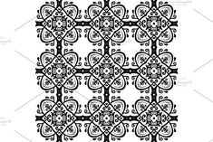 Oriental vector pattern with damask, arabesque and floral elements. Damask Patterns, Arabesque, Vector Pattern, Abstract Backgrounds, Graphic Design, Floral, Flowers, Flower, Visual Communication