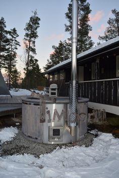 Badestamp i glassfiber med integrert ovn termo tre Wellness Royal, Gunnar Bjøru, Kongsberg, NORWAY (2)