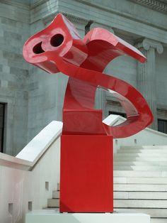 London, England: British Museum: 'Red Heech' (2002, Parviz Tanavoli)