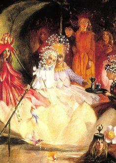 """""""La boda de Oberón y Titania"""" de John Anster Fitzgerald. En """"El Sueño de una Noche de Verano"""", Teseo e Hipólita, antes enemigos en batalla, celebran las vísperas de su futura boda. En tanto, Titania y Oberón, reyes de las hadas, se hallan inmersos en una disputa de enamorados, la cual acabarán interfiriendo en las aventuras y desventuras de algunos de los invitados a las celebraciones."""
