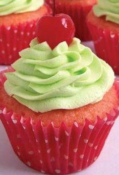 Easy Cherry Limeade Cupcakes~