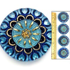 vintage czech glass buttons - Google Search