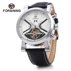 SHARE & Get it FREE | Forsining Male Tourbillon Auto Mechanical Watch Leather Strap with Date DisplayFor Fashion Lovers only:80,000+ Items·FREE SHIPPING Join Dresslily: Get YOUR $50 NOW!