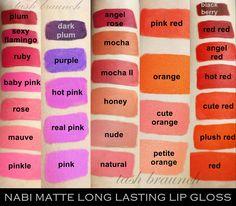 nabi matte lip gloss - Google Search