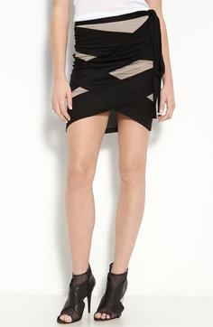 robert rodriguez cross patched jersey skirt