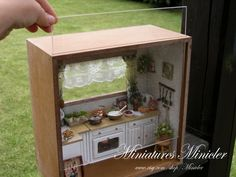 Dollhouse RoomBox Kitchen Fully Equipped  Set Scale by Minicler, €89.00