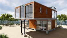 High Quality Prefab Modular Movable Modify Shipping Container House picture from Jiangxi HK Prefab Building Co. view photo of Container House, Modular House, Prefab House.Contact China Suppliers for More Products and Price. Shipping Container Home Designs, Cargo Container Homes, Container Buildings, Storage Container Homes, Container Architecture, Container House Design, Container Cabin, Container Store, Shipping Containers