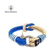 Bran Marion bracelets are the perfect casual accessory for the outdoorsy sporty types. Especially the water enthusiasts. Nautical Bracelet, Nautical Jewelry, Reef Knot, Marine Rope, Paracord Bracelets, Everyday Look, Handmade Bracelets, Jewelry Collection, Sporty