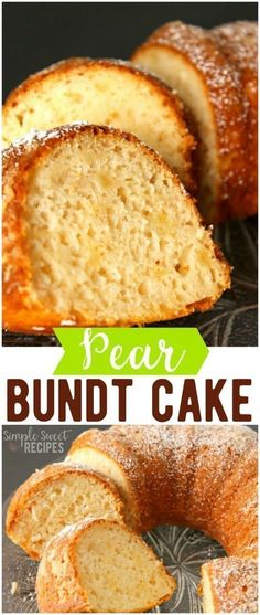 cakerecipes bundtcake recipes dessert simple bundt sweet pears cakes pear cake Pear Bundt Cake Simple Sweet RecipesYou can find Pear dessert recipes and more on our website Pear Recipes Easy, Pear Dessert Recipes, Cake Mix Recipes, Easy Desserts, Sweet Recipes, Desserts With Pears, Recipes With Pears, Cake Mixes, Jelly Recipes