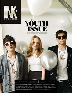 INK Magazine March 2011 // The Youth Issue  INK has officially gone monthly! Our first issue includes work by Christopher Wilocki with Angel and Izzy of Viva.City.Dance!, John Troxel, Wesley Nault, Julie Eilenberger, Amelia Lindquist of Peeps, Charlotte Lin, Matthew Burditt, Rachel Hanel, Naomi Nishi, and many more. We also introduce our film review section, and reveal an editorial-only preview of the new INK Homme, to be launched in full next month.
