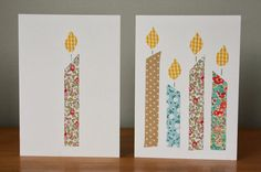 Tales from a happy house.: Washi Tape Christmas and Birthday Cards