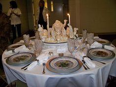 Christmas Nativity scene centerpieces   White Porcelain Nativity Scene Centerpiece Table (From FBC in Douglas ...