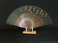 Dragonflies on silk sensu | Japanese Handmade Crafts Shop - nipponcraft