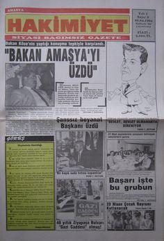 Amasya Hakimiyet Gazetesinin 20 Nisan 1994 tarih ve 9 numaralı nüshası