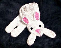 Crocheted Rabbit Scarf