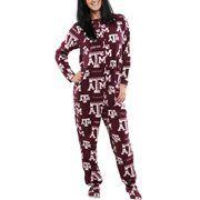 Texas A&M Aggies Ladies Highlight Union Footie Pajamas - Maroon