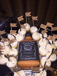 Jack Daniels Cake. 40th Birthday Party at Mickey Mantle's Steakhouse. Bricktown Oklahoma City Oklahoma
