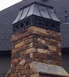 Chimney Cap for Wood Burning Fireplace . Chimney Cap for Wood Burning Fireplace . Chimney Cap, Chimney Sweep, Copper Roof, Metal Roof, Roof Cap, Fireplace Design, Architecture Details, Hearth, Old World