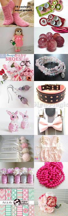 Pinky Cuties by Helen on Etsy--Pinned+with+TreasuryPin.com