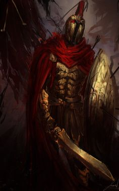 a good friend of mine suggested this. and thus i delievered! like 4 :< Sorry if its a bit rough . Fantasy Armor, Fantasy Weapons, Dark Fantasy Art, Warrior Concept Art, Character Art, Character Design, Warriors Wallpaper, Roman Warriors, Greek Mythology Art