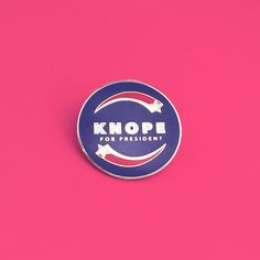 "Do you wish you could vote for Leslie Knope instead of Donald Trump? Don't you think she'd run America like a bad ass? If you answered Yes, then this campaign style pin is for you! This pin is a must for any Parks & Recreation fan as well as makers, designers and pop culture fiends. Each enamel pin is Red, White and Dark Blue with a faux gold plated back. It has a clutch backing and measures 1"" height. International Orders: Please note that all orders are shipped from Sydney, Australia...."