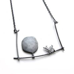 Fawn in Forest Necklace