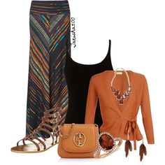 """""""Bohemian Style"""" fashion Trend Fall 2013 I would wear different shoes and no necklace with this outfit."""