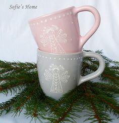 Ceramic Tableware, Ceramic Pottery, Light Colors, Colours, Pastel Grey, Hand Painted Ceramics, Handmade Ceramic, Christmas Angels, Teapot