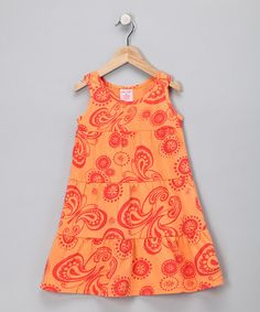 Take a look at this Orange Butterfly Dress - Toddler & Girls by S.W.A.K. on #zulily today!