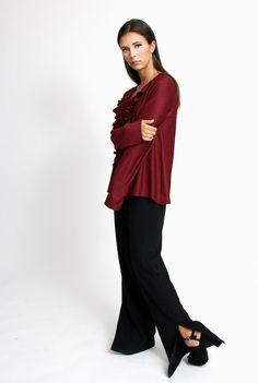 Pantalón recto negro | Bluedale