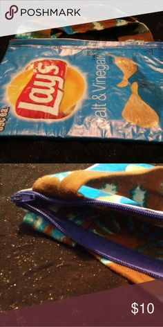 Novelty LAYS SALT AND VINEGAR WRAPPER MINI TOTE PU Novelty LAYS SALT AND VINEGAR WRAPPER MINI TOTE PURSE    Made with your favorite snack wrappers, lined with fabric,vinyl finish, and a zipper to keep your treasures safe. Not a Salt and Vinegar fan?? I can customize for you with your favorite treat wrapper. Handles or no handles. Material may not be the same. Please message me with your requests or questions handmade Accessories