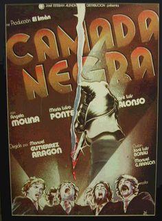 Manuel Gutiérrez Aragón. Camada Negra. 1977. Cartel de Iván Zuleta