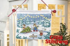 Deck the halls… The Furry Tales mice are getting ready for Christmas - Exclusive! Choosing a tree is all part of the fun where festive preparations are concerned, and Monty Mouse and his family are packing in the seasonal spirit. Find the chart in the new issue 221 of The World of Cross Stitching magazine
