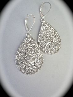 Bridal Jewelry // Rhinestone Earrings // by QueenMeJewelryLLC, $29.99