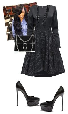 """""""Funeral"""" by cogic-fashion on Polyvore featuring Lattori, Casadei, Gucci and Chanel"""