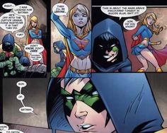 Wow...what is this? Dark and twisted Robin meets Supergirl in an alley?