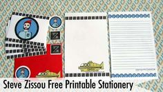 Steve Zissou free printable stationary!