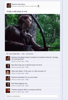 Lol haha funny pics / pictures / Hunger Games Humor / Facebook / Katniss